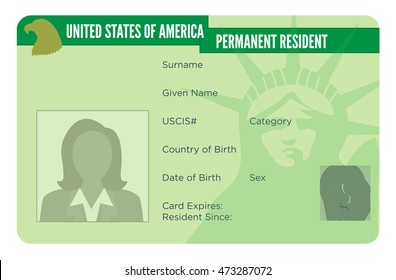 American Naturalization or Permanent Residency Card