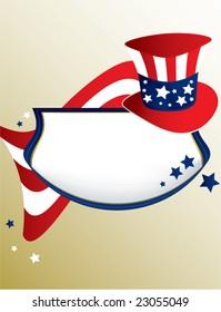 American patriotic banner - vector