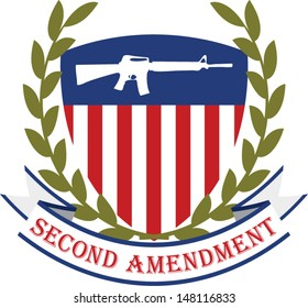 American patriotic emblem.Second amendment-U.S. constitution