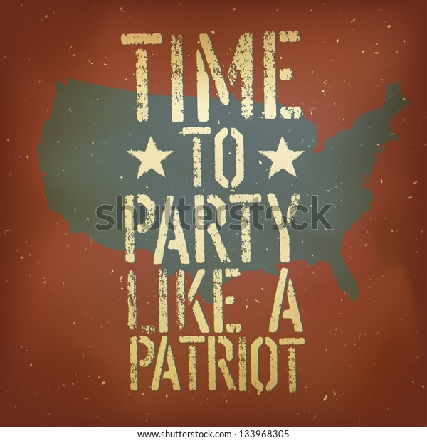 American patriotic poster, vector, EPS10