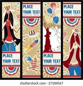 American patriotic vertical banners.  To see similar, please VISIT MY GALLERY.