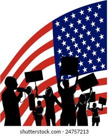 American People protesting development