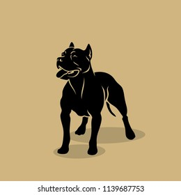 American Pit Bull Terrier dog - isolated vector illustration
