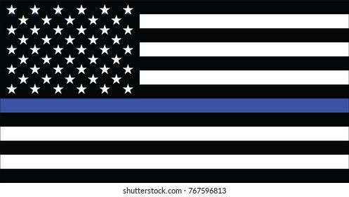 American police flag vector