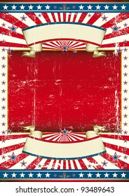 American politic background. A poster with a large red frame for your message.
