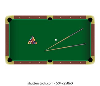 Snooker table peeing