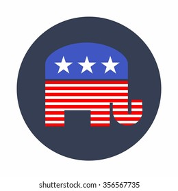 American Republican Elephant Vector