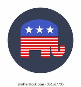 American Republican Elephant Vector