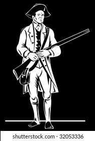 American revolutionary soldier