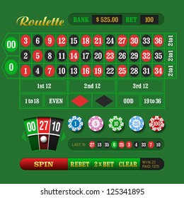 American Roulette. Vector.