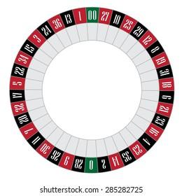 American roulette vector illustration. Roulette wheel. Gambling game