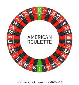 American roulette wheel. Vector.