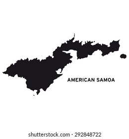 American Samoa map vector