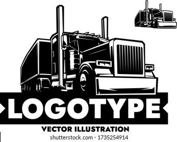 American Semi-Trailer Truck Vector Illustration
