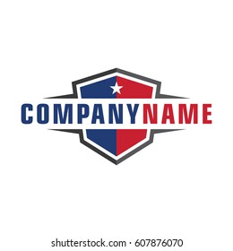 American shield logo template