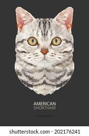 American Shorthair vector polygon geometric