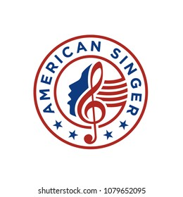 American Singer / Choir logo design inspiration