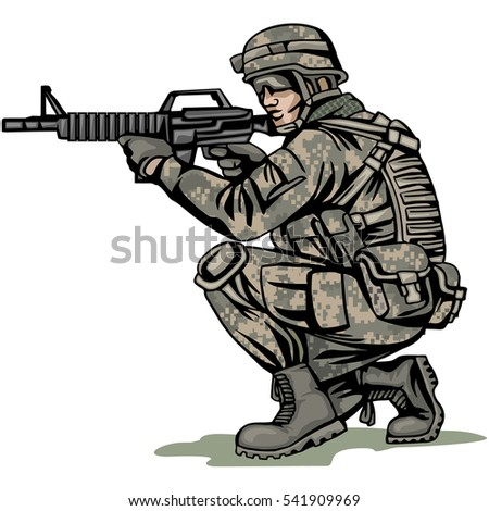 american soldier stock vector royalty free 541909969 shutterstock