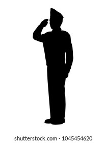 American soldier silhouette vector