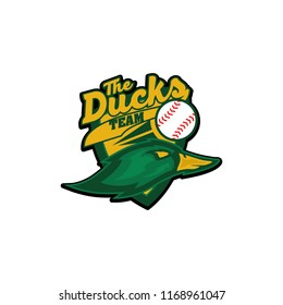 american sports duck baseball softball logo template