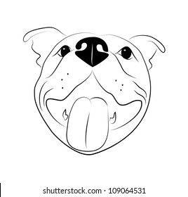 American Staffordshire Terrier Silhouette