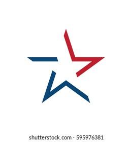 American star logo design
