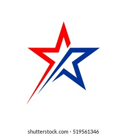 American Star Logo Template Illustration Design. Vector EPS 10.