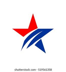 American Star Vector Logo Template Illustration Design. Vector EPS 10.