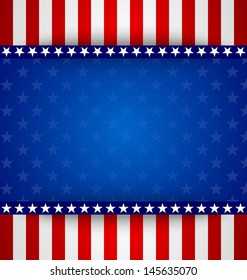 American starry background with stars and stripes