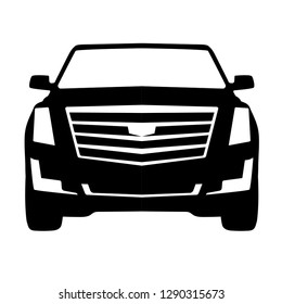American Suv front view icon
