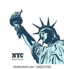 American symbol - Statue of Liberty. New York, USA