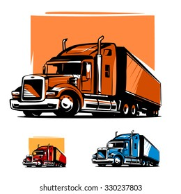 American Truck Trailer illustration