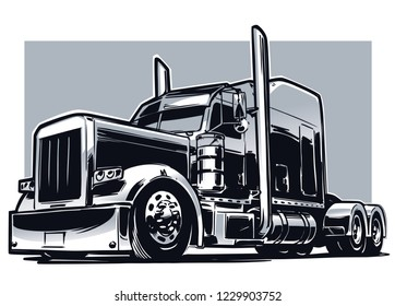 American Truck. Vector illustration