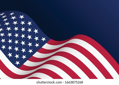 American (USA) flag banner design