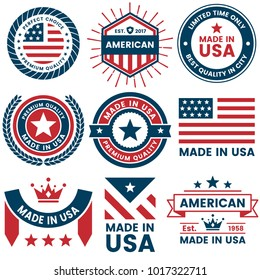 American Vector label for banner, poster, flyer