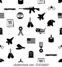 american veterans day celebration seamless pattern eps10