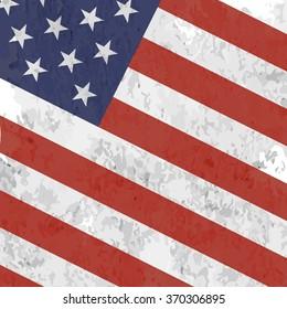 American Vintage Flag Background.