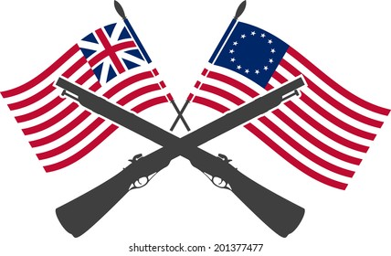 revolutionary war images stock photos vectors shutterstock rh shutterstock com Patriotic Clip Art Flag 13 Stats