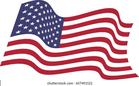 american waving flag vector illustration stock vector royalty free rh shutterstock com waving flag vector tutorial waving us flag vector