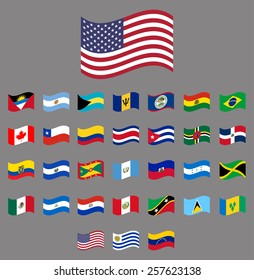 American, waving Vector flag collection part 1/6