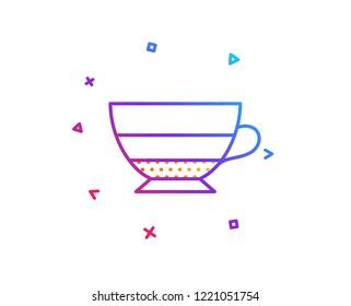 Americano coffee icon. Hot drink sign. Beverage symbol. Gradient line button. Americano icon design. Colorful geometric shapes. Vector