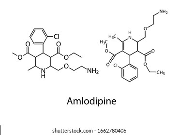 Amlodipine is a generic drug for resolving high blood pressure.Chemical structure of Amlodipine