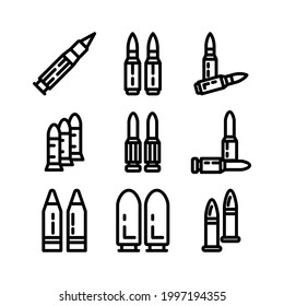 ammo icon or logo isolated sign symbol vector illustration - Collection of high quality black style vector icons