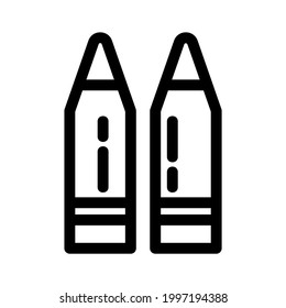 ammo icon or logo isolated sign symbol vector illustration - high quality black style vector icons