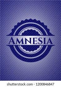 Amnesia badge with jean texture