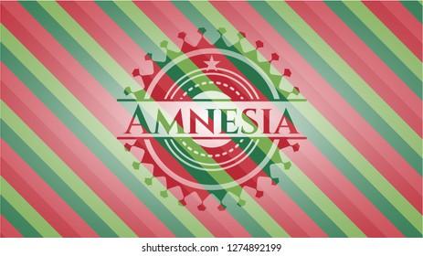 Amnesia christmas colors emblem.