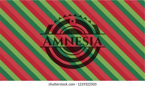 Amnesia christmas colors style badge.