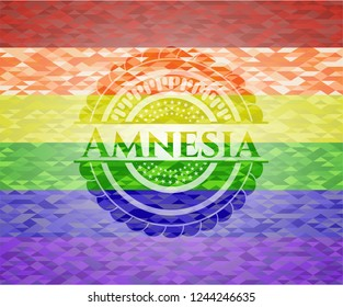 Amnesia lgbt colors emblem