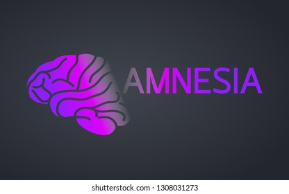 Amnesia logo icon design, medical vector illustration