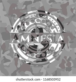 Amnesia on grey camo pattern